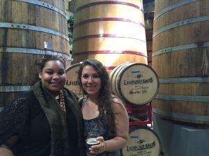 Beer Barrels in New Belgium Brewery